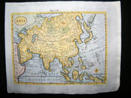 Asia & East Indies C1790 Antique Hand Colored Map, By Gonne